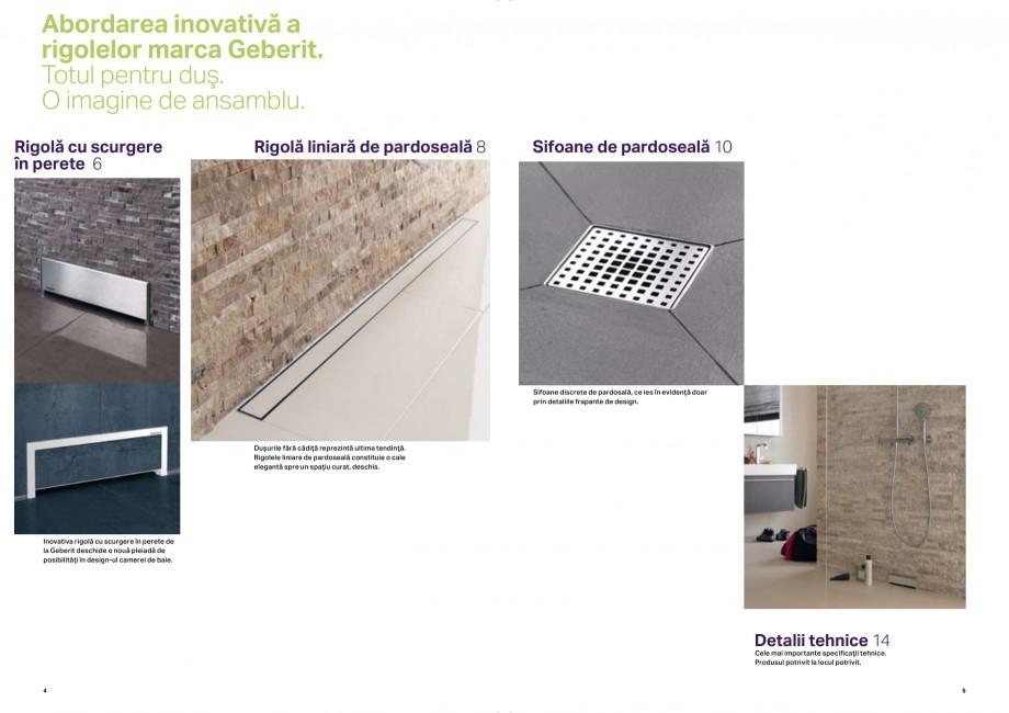 Pagina 3 - Placerea pura a dusului - Rigole de dus GEBERIT Scurgere in perete, Scurgere in...