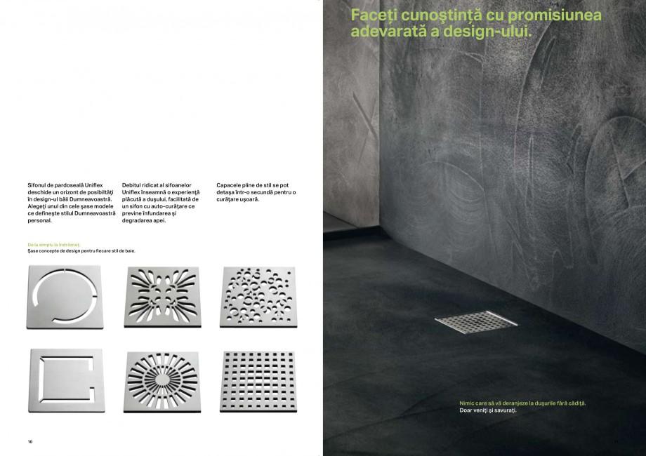 Pagina 6 - Placerea pura a dusului - Rigole de dus GEBERIT Scurgere in perete, Scurgere in...