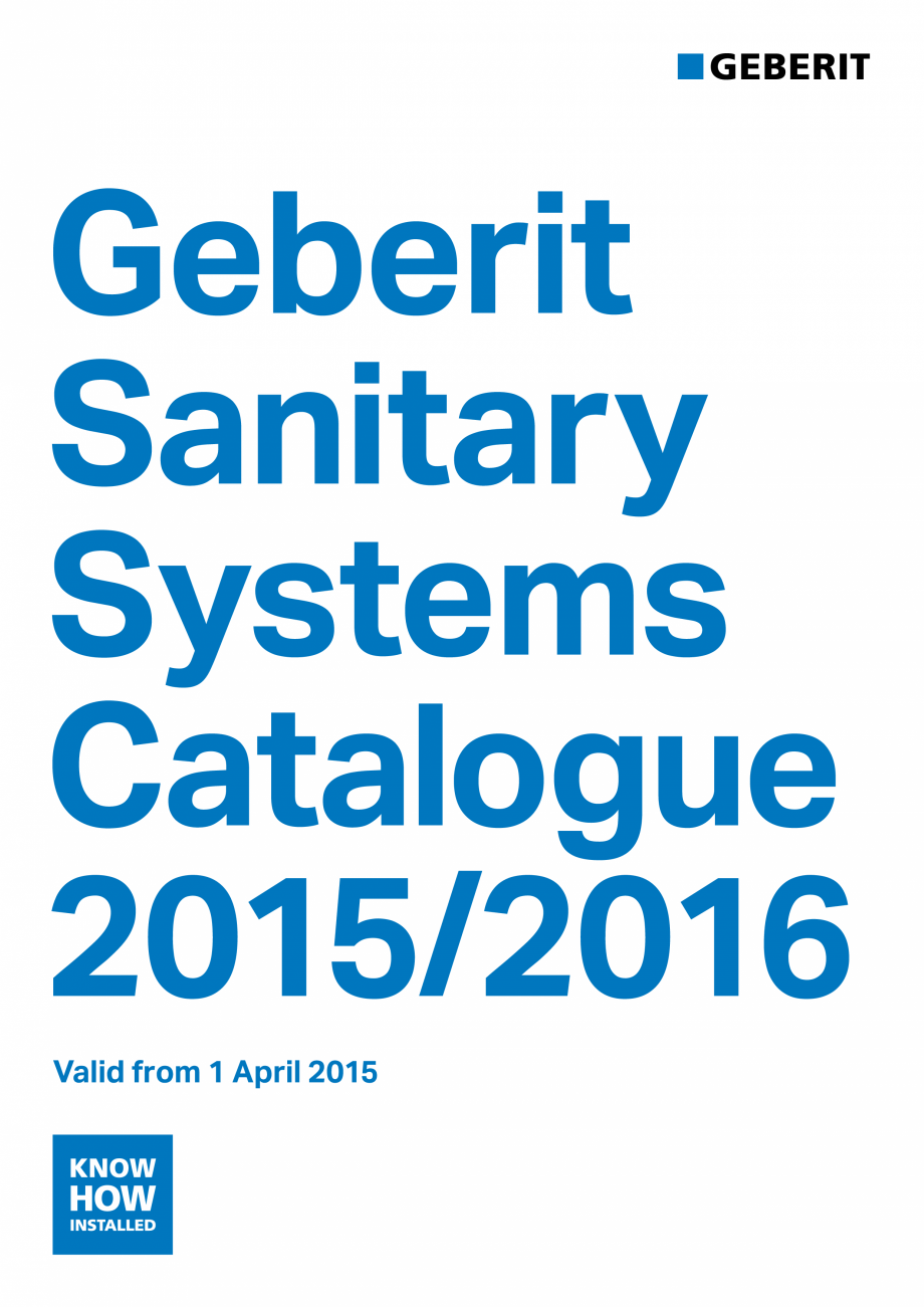 Pagina 1 - Sisteme sanitare Geberit 2015-2016 GEBERIT Scurgere in perete, Scurgere in pardoseala,...