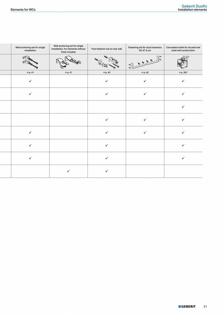 Pagina 21 - Sisteme sanitare Geberit 2015-2016 GEBERIT Scurgere in perete, Scurgere in pardoseala,...