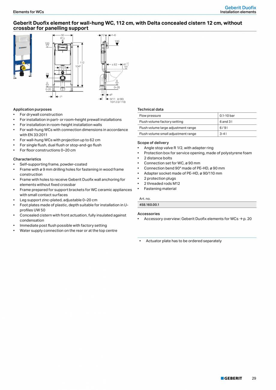Pagina 29 - Sisteme sanitare Geberit 2015-2016 GEBERIT Scurgere in perete, Scurgere in pardoseala,...