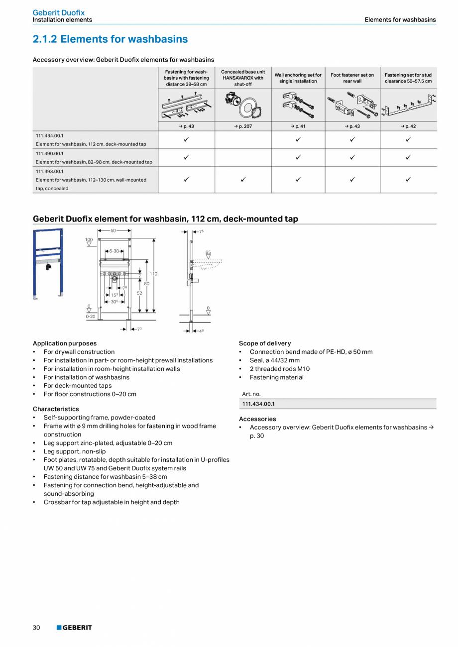 Pagina 30 - Sisteme sanitare Geberit 2015-2016 GEBERIT Scurgere in perete, Scurgere in pardoseala,...