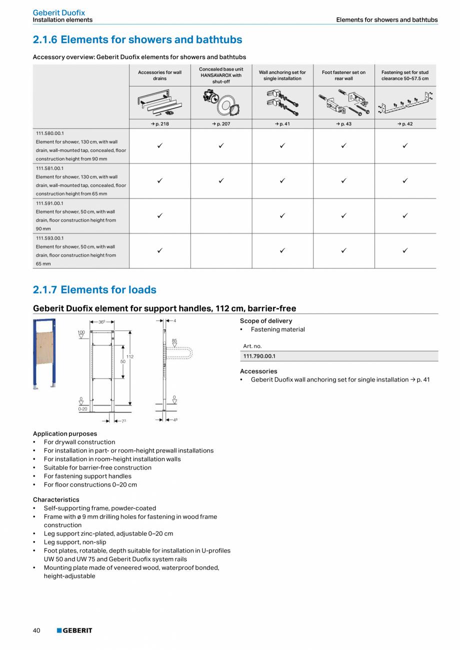 Pagina 40 - Sisteme sanitare Geberit 2015-2016 GEBERIT Scurgere in perete, Scurgere in pardoseala,...
