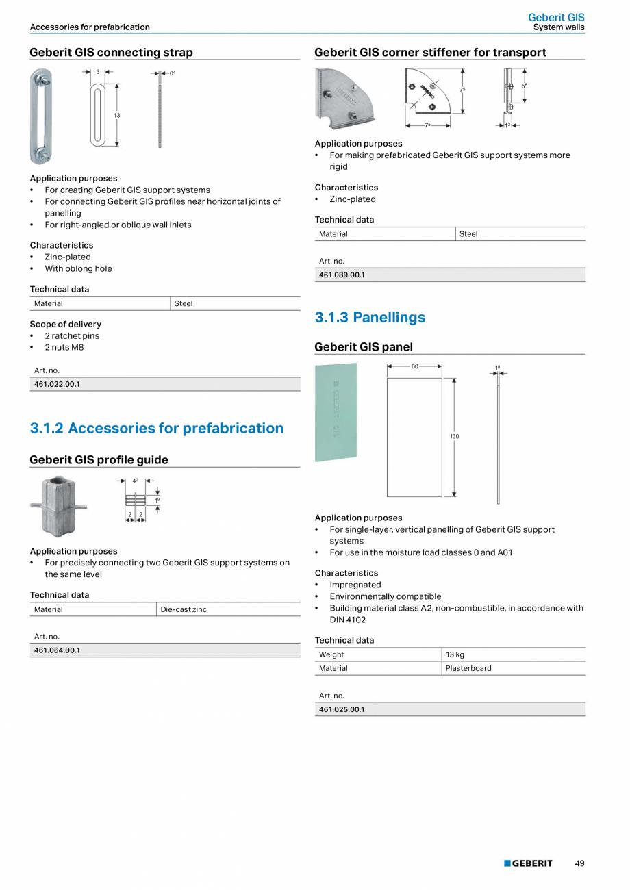 Pagina 49 - Sisteme sanitare Geberit 2015-2016 GEBERIT Scurgere in perete, Scurgere in pardoseala,...