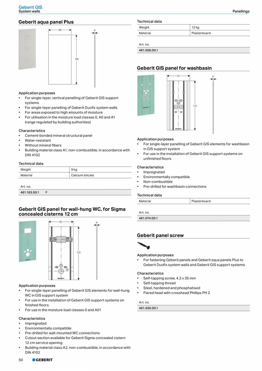 Pagina 50 - Sisteme sanitare Geberit 2015-2016 GEBERIT Scurgere in perete, Scurgere in pardoseala,...