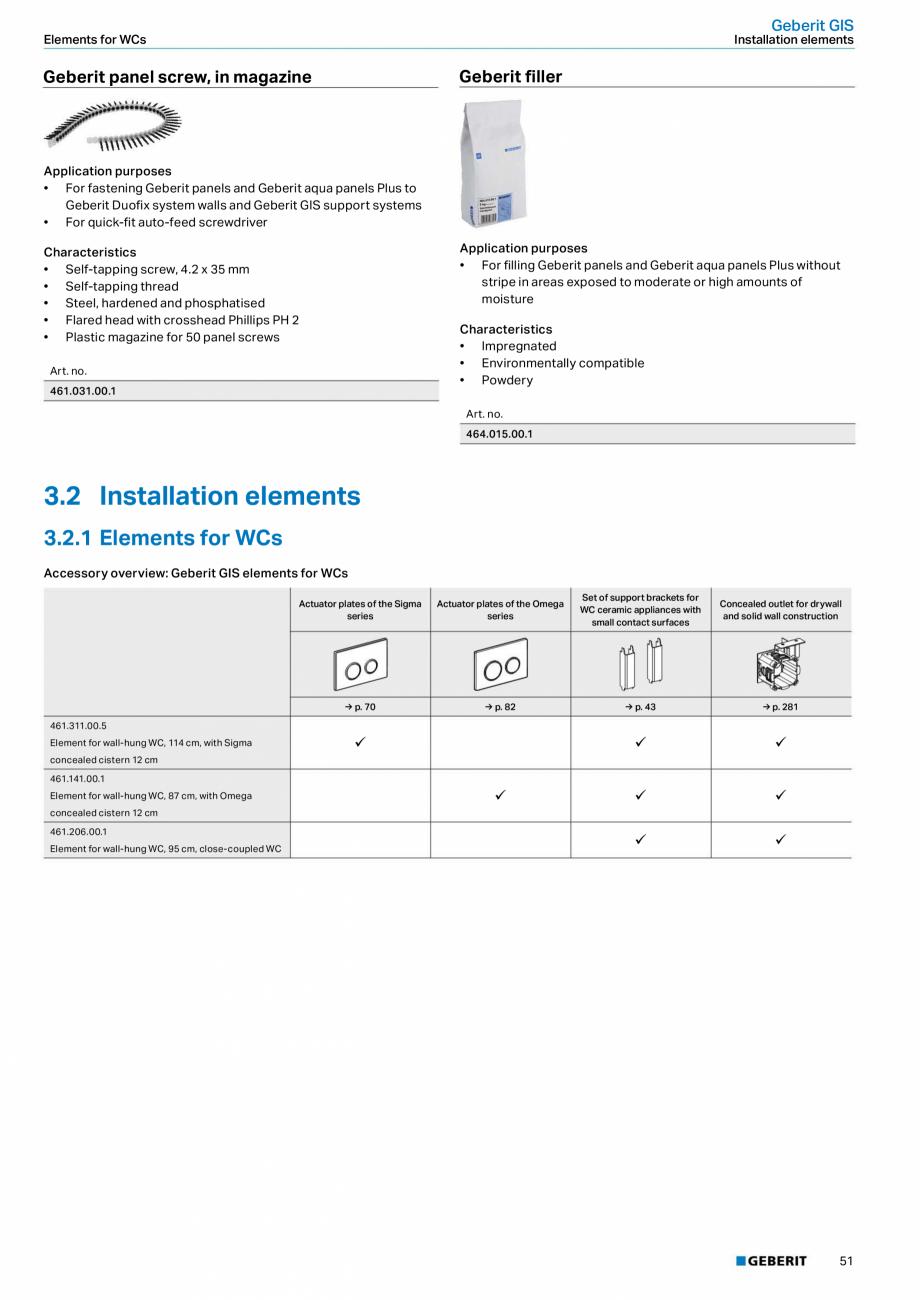 Pagina 51 - Sisteme sanitare Geberit 2015-2016 GEBERIT Scurgere in perete, Scurgere in pardoseala,...