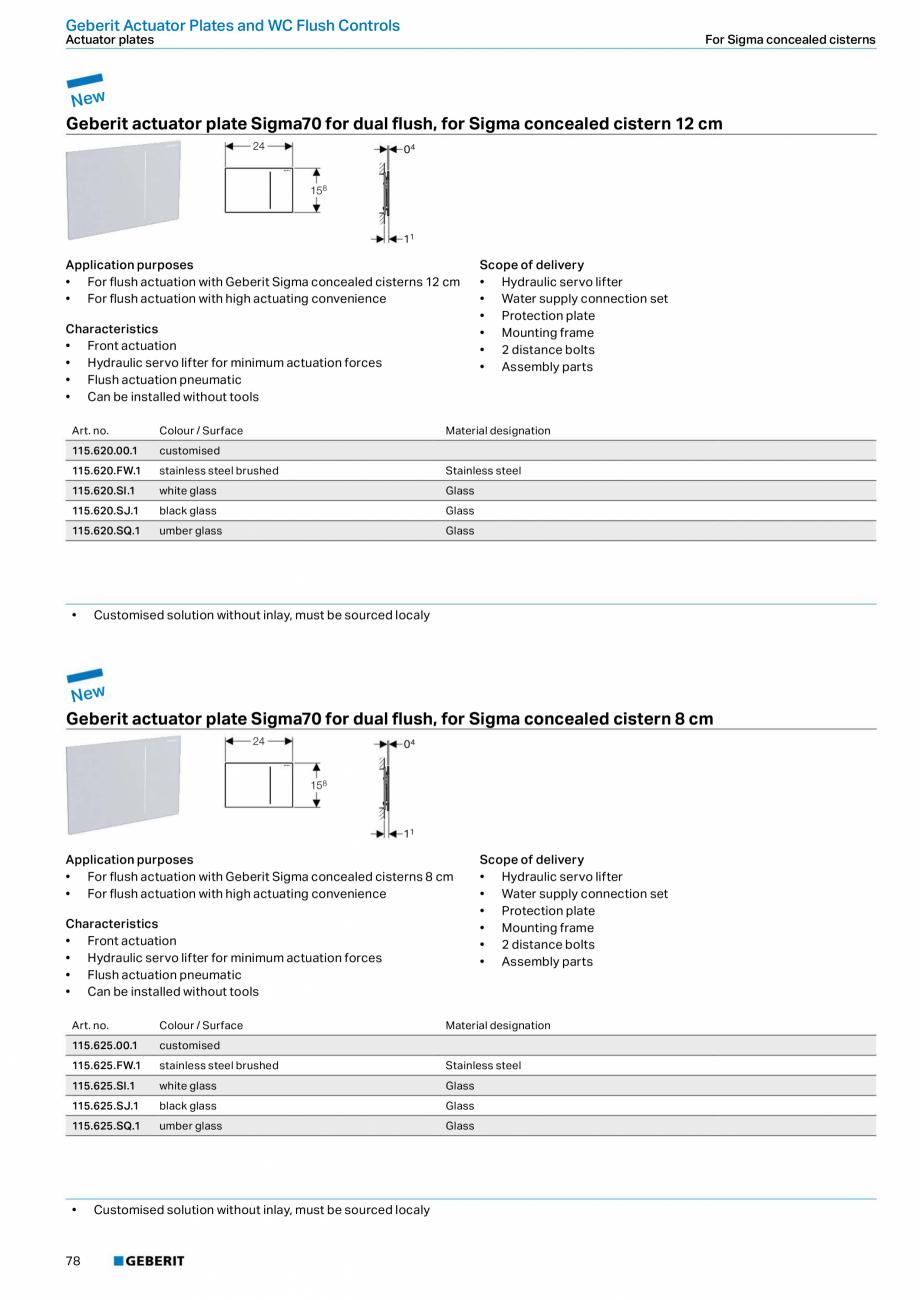 Pagina 78 - Sisteme sanitare Geberit 2015-2016 GEBERIT Scurgere in perete, Scurgere in pardoseala,...