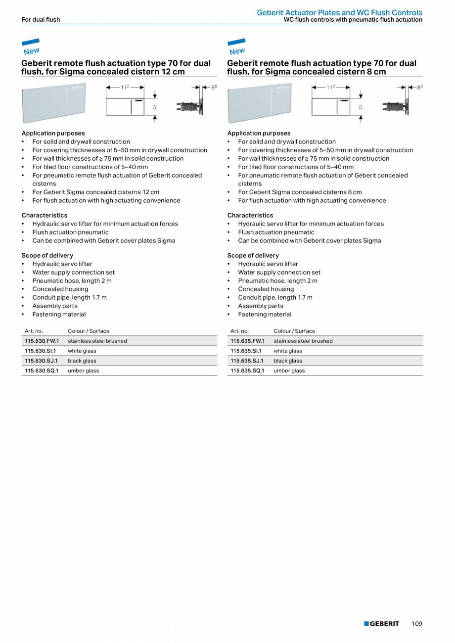 Pagina 109 - Sisteme sanitare Geberit 2015-2016 GEBERIT Scurgere in perete, Scurgere in pardoseala, ...