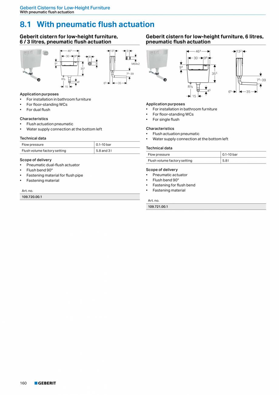 Pagina 160 - Sisteme sanitare Geberit 2015-2016 GEBERIT Scurgere in perete, Scurgere in pardoseala, ...