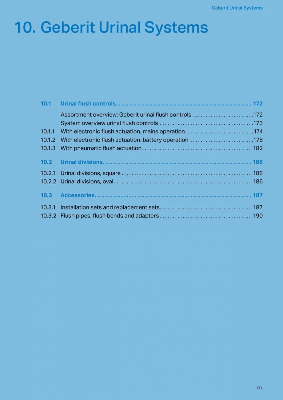 Pagina 171 - Sisteme sanitare Geberit 2015-2016 GEBERIT Scurgere in perete, Scurgere in pardoseala, ...