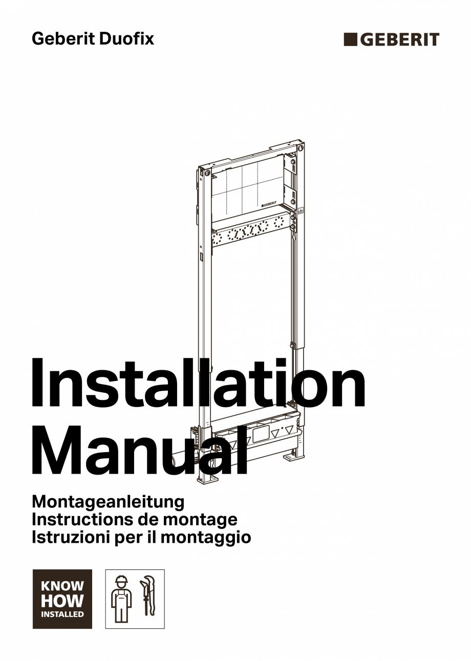 Pagina 1 - Manual de instalare - pentru element de instalare Geberit Duofix pentru dus, 130 cm...