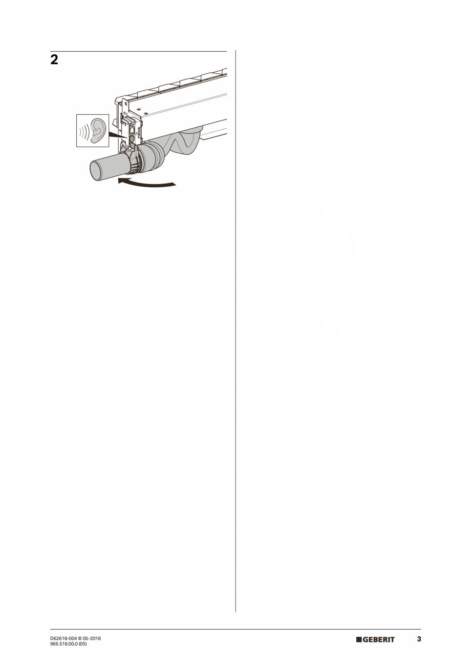 Pagina 3 - Manual de instalare - pentru element de instalare Geberit Duofix pentru dus, 130 cm...