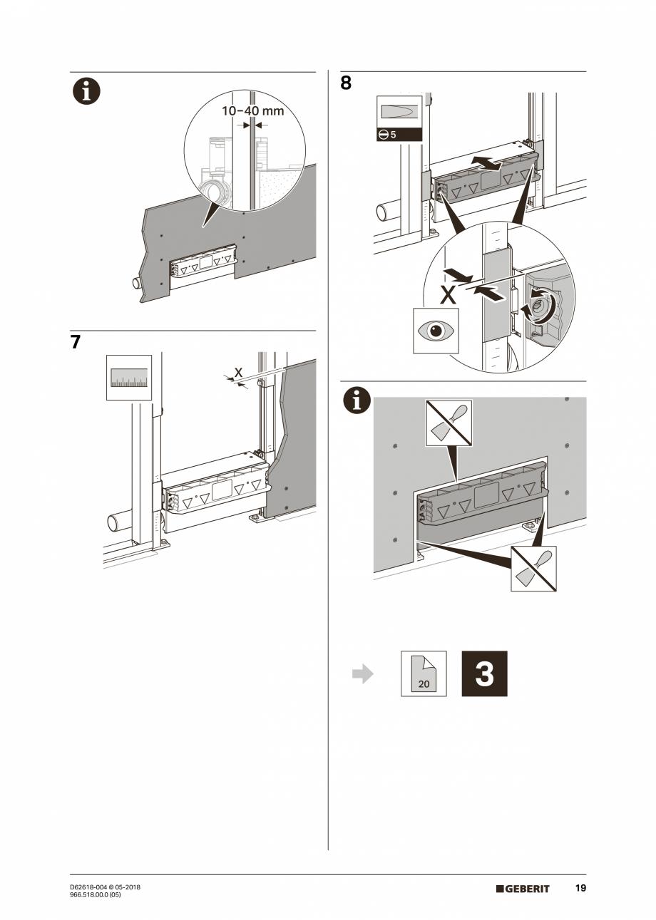 Pagina 19 - Manual de instalare - pentru element de instalare Geberit Duofix pentru dus, 130 cm...