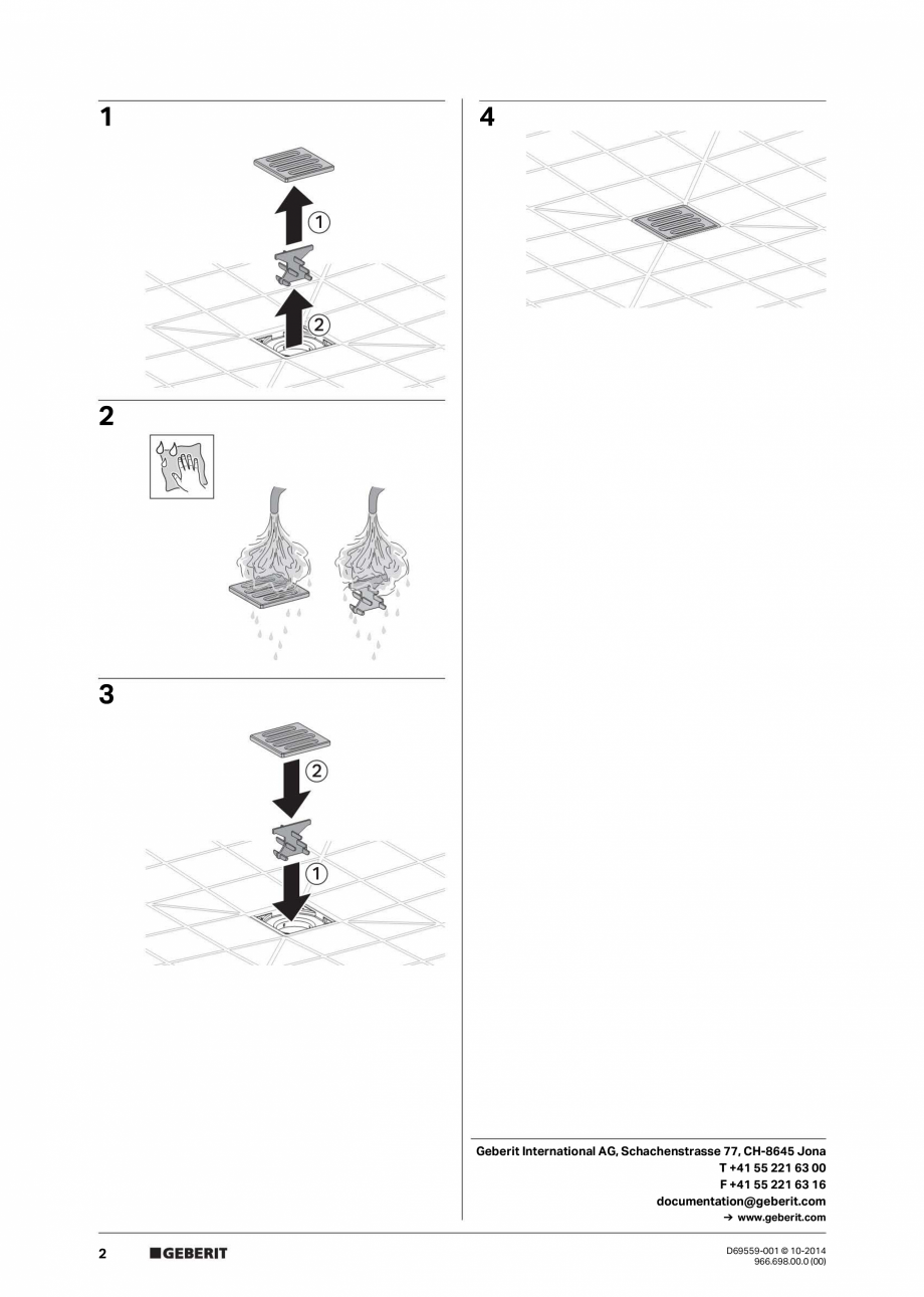Manual de intretinere pentru scurgere prin pardoseala