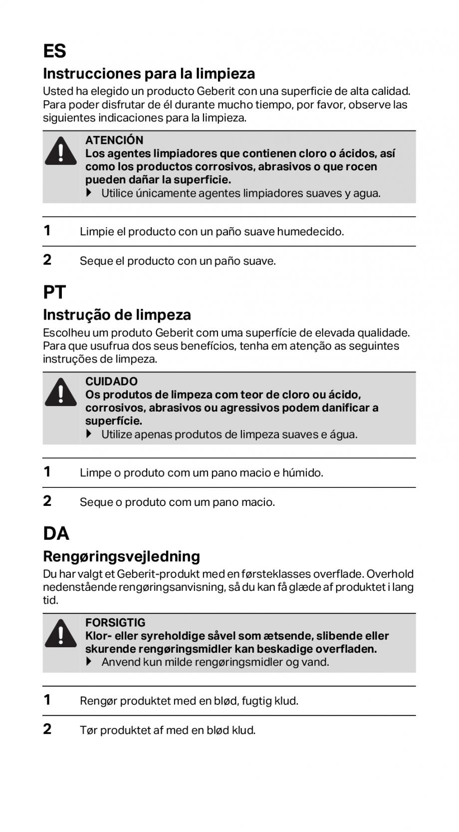 Pagina 3 - Instructiuni de instalare pentru rigola GEBERIT CleanLine Instructiuni montaj, utilizare ...