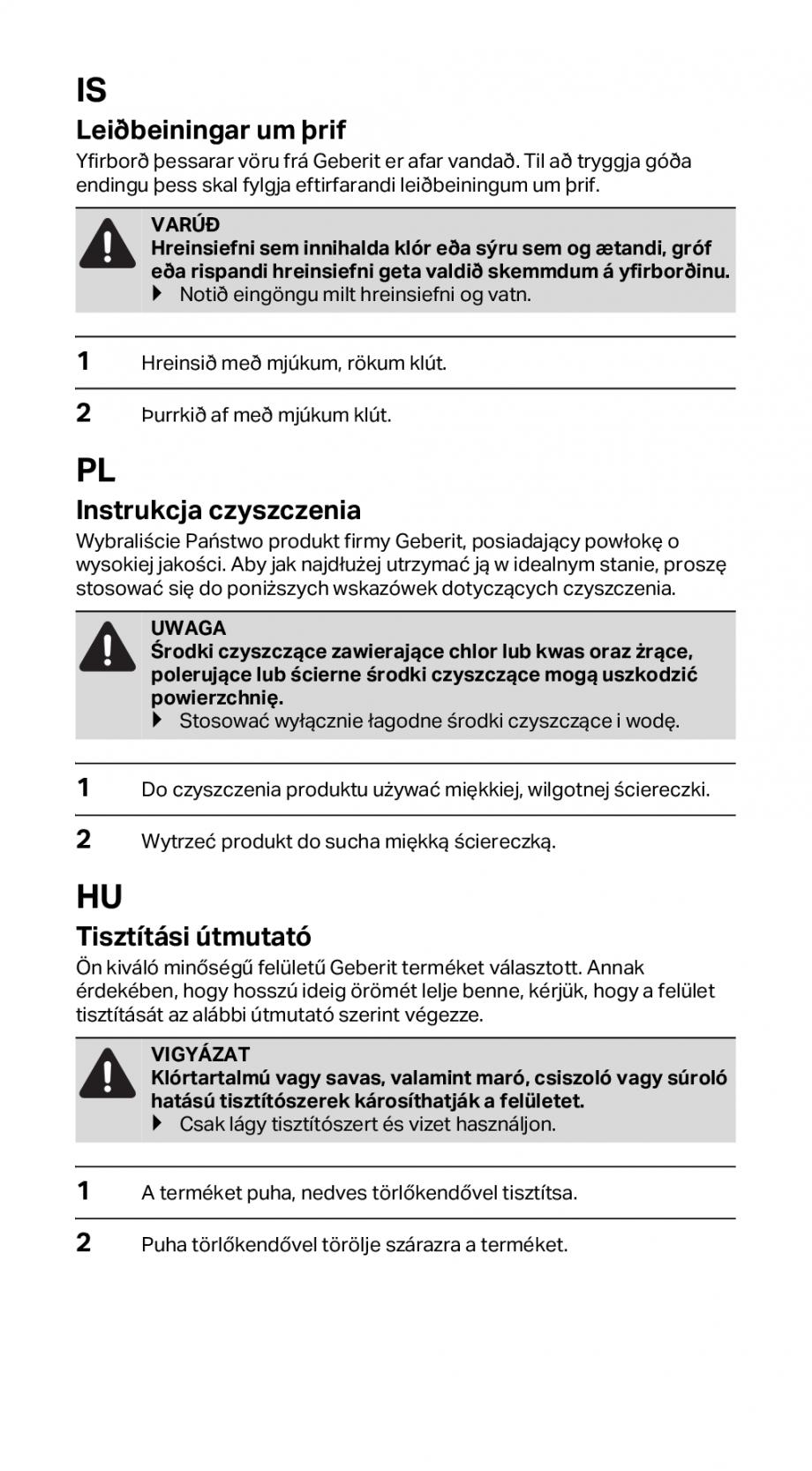 Pagina 5 - Instructiuni de instalare pentru rigola GEBERIT CleanLine Instructiuni montaj, utilizare ...