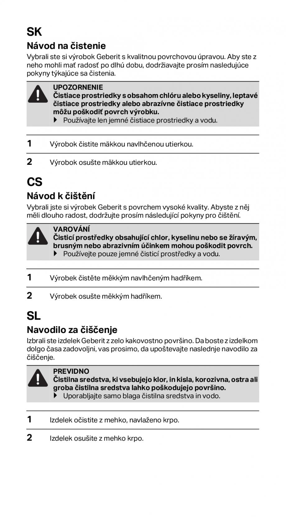 Pagina 6 - Instructiuni de instalare pentru rigola GEBERIT CleanLine Instructiuni montaj, utilizare ...
