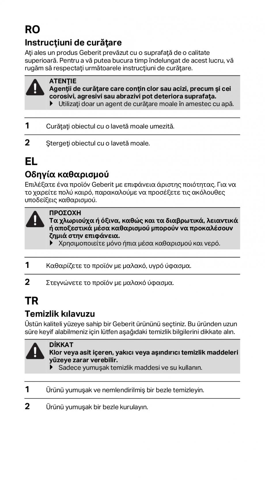 Pagina 9 - Instructiuni de instalare pentru rigola GEBERIT CleanLine Instructiuni montaj, utilizare ...