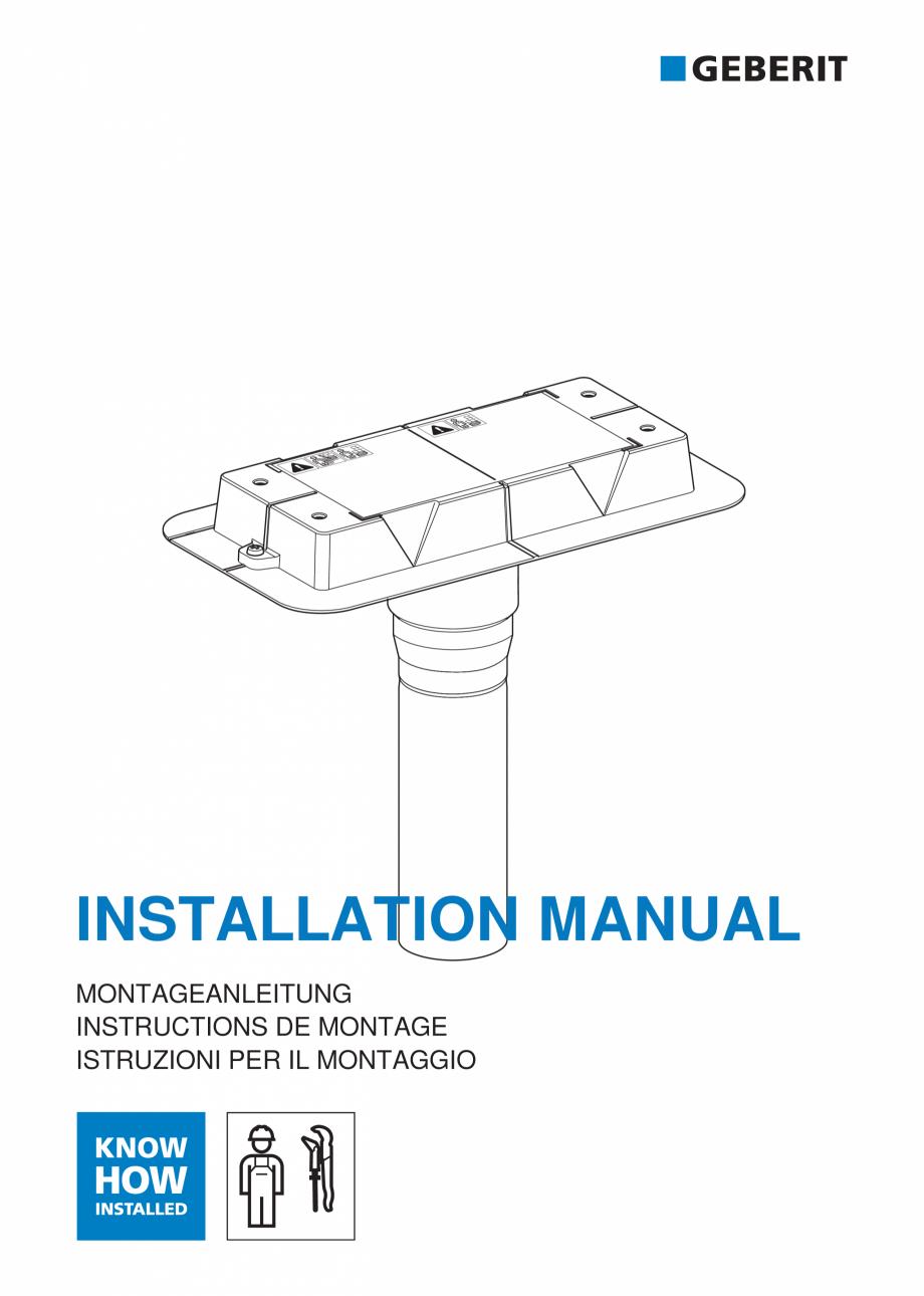 Pagina 1 - Manual pentru instalre - Kit de instalare Geberit pentru rigole pentru dus din seria...