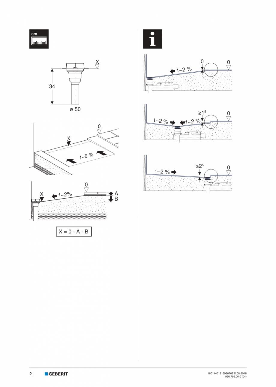 Pagina 2 - Manual pentru instalre - Kit de instalare Geberit pentru rigole pentru dus din seria...
