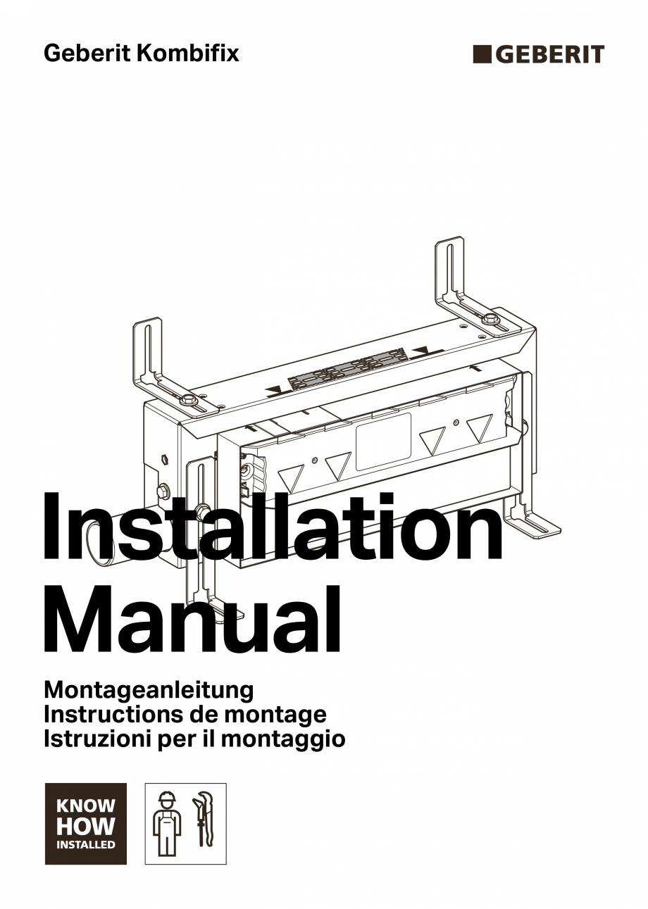 Pagina 1 - Manual de instalare pentru element de instalare Geberit Kombifix pentru dus, cu scurgere ...