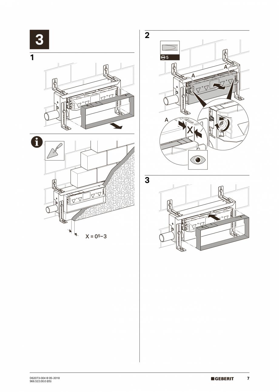 Pagina 7 - Manual de instalare pentru element de instalare Geberit Kombifix pentru dus, cu scurgere ...