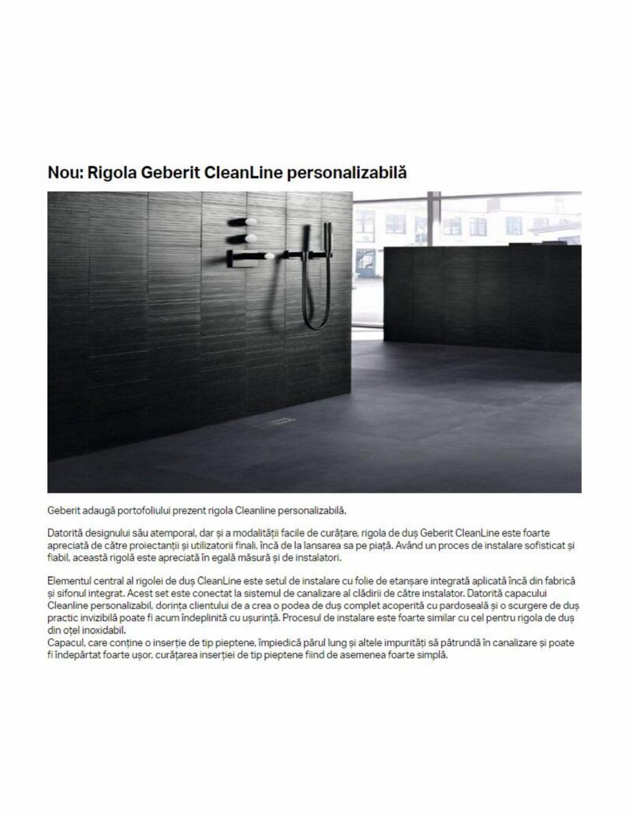 Pagina 1 - Rigola Cleanline personalizabila GEBERIT CleanLine Catalog, brosura Romana