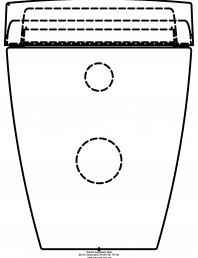 Sistem WC Sela - vedere din spate