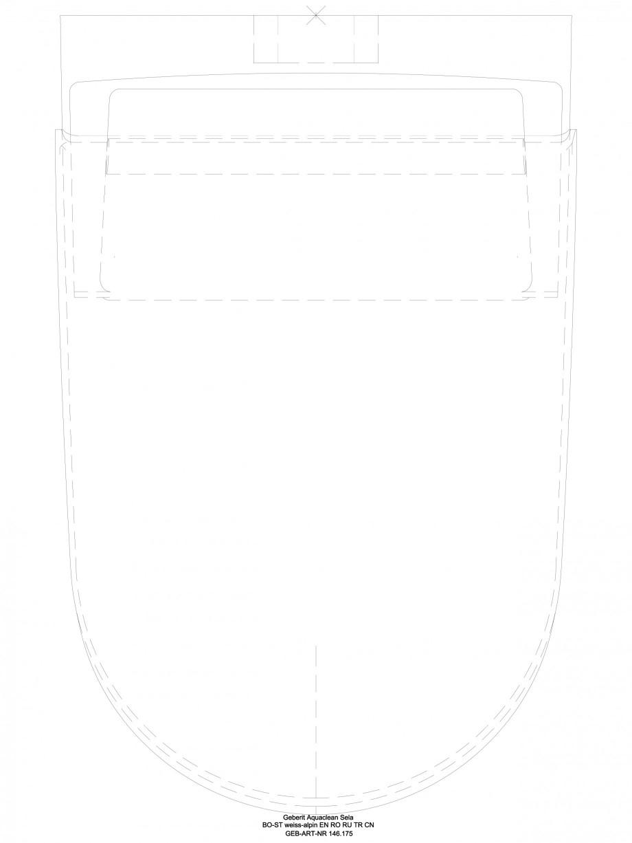 Pagina 1 - CAD-DWG Sistem WC Sela - vedere de sus GEBERIT Detaliu de produs AquaClean
