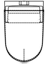 Sistem WC Geberit AquaClean Sela - vedere de sus GEBERIT