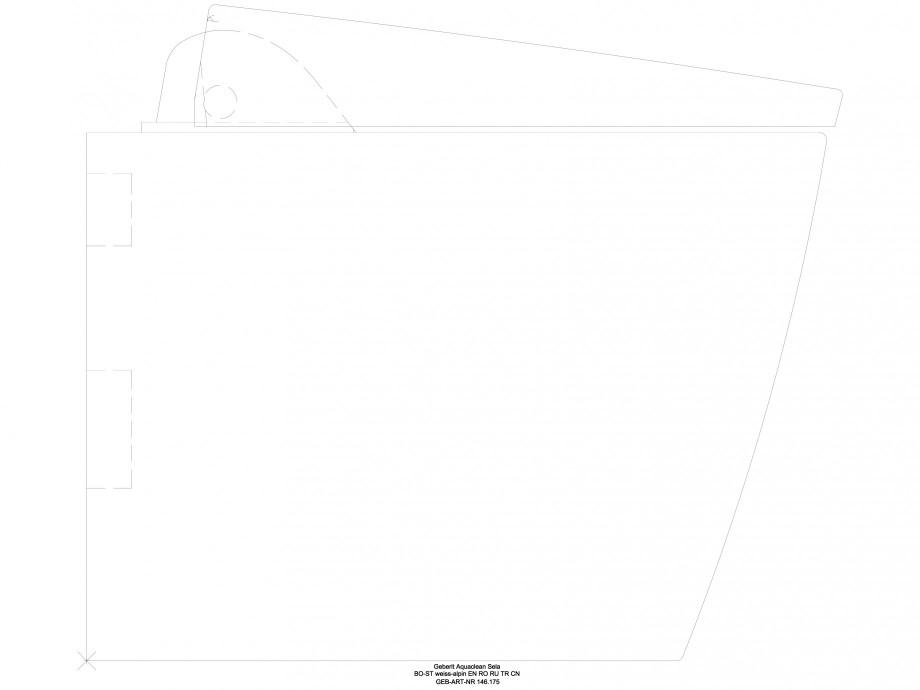 Pagina 1 - CAD-DWG Sistem WC Sela - vedere din profil GEBERIT Detaliu de produs AquaClean