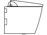 Sistem WC Geberit AquaClean Sela - vedere din profil GEBERIT