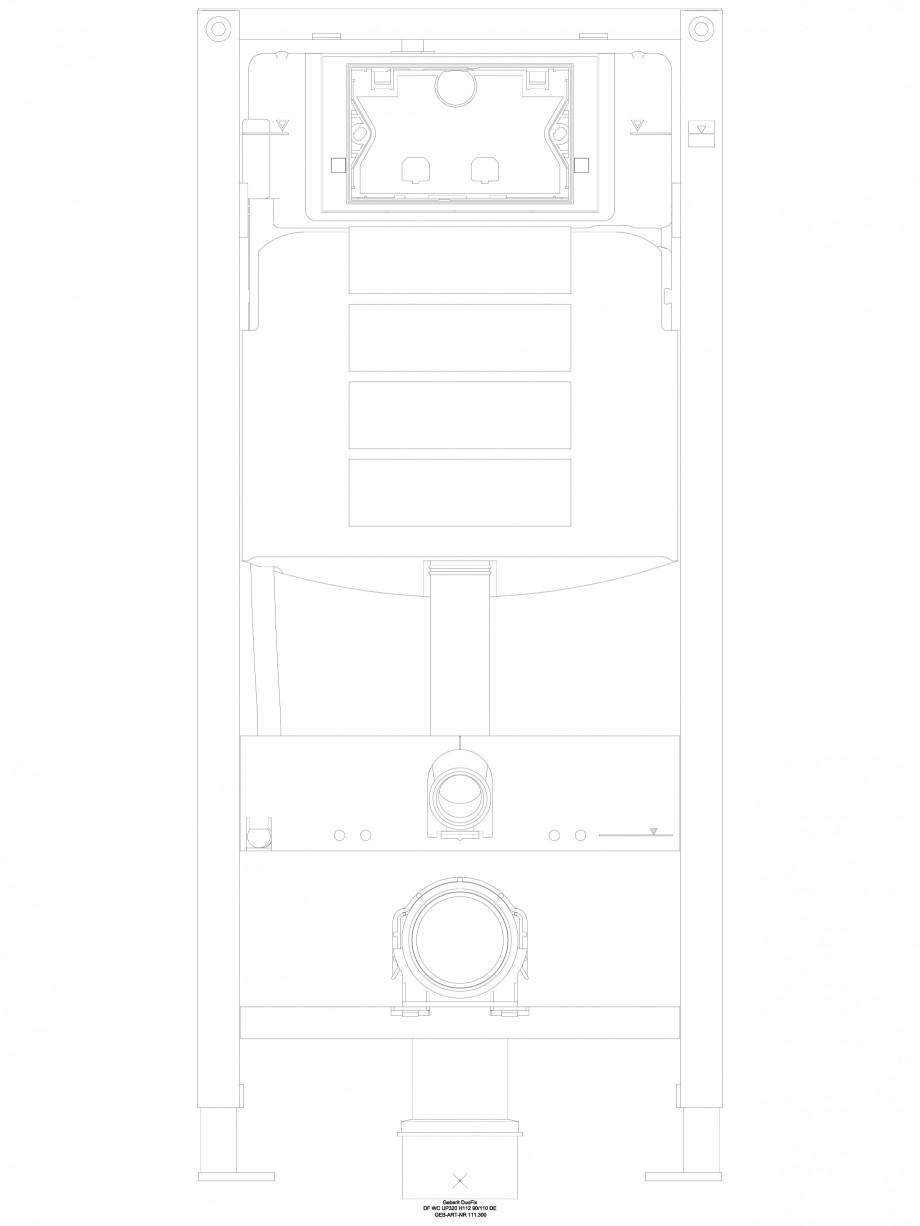 Pagina 1 - CAD-DWG Sistem de instalare WC Geberit  Duofix Sigma - vedere din fata GEBERIT Detaliu de...