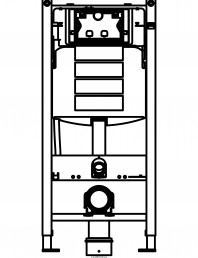 Sistem de instalare WC Geberit  Duofix Sigma - vedere din fata