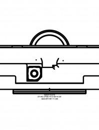 Sistem de instalare WC Geberit  Duofix Sigma - vedere de sus