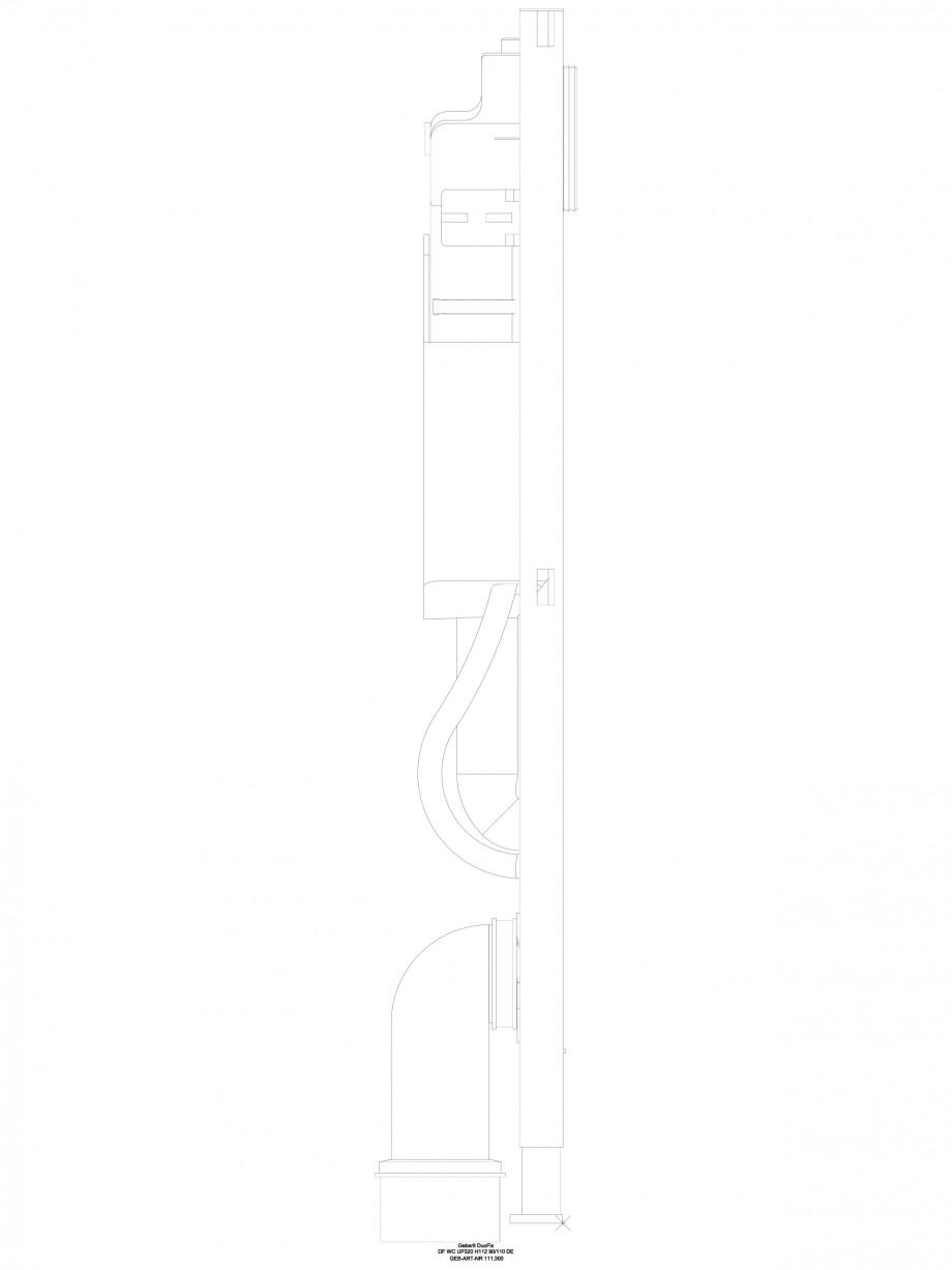 Pagina 1 - CAD-DWG Sistem de instalare Sigma - vedere din profil GEBERIT Detaliu de produs Duofix
