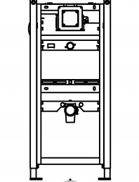 Sistem de instalare pisoar Geberit Duofix Universal - vedere din fata