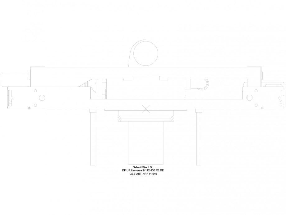 Pagina 1 - CAD-DWG Sistem de instalare pisoar Universal - vedere de sus GEBERIT Detaliu de produs...
