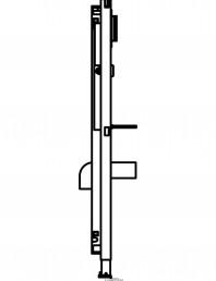Sistem de instalare pisoar Geberit Duofix Universal - vedere din profil