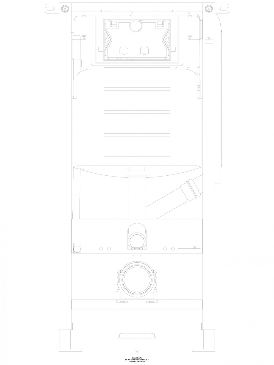Pagina 1 - CAD-DWG Sistem de instalare WC - vedere din fata GEBERIT Detaliu de produs DuoFresh