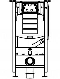 Sistem de instalare WC Geberit DuoFresh - vedere din fata