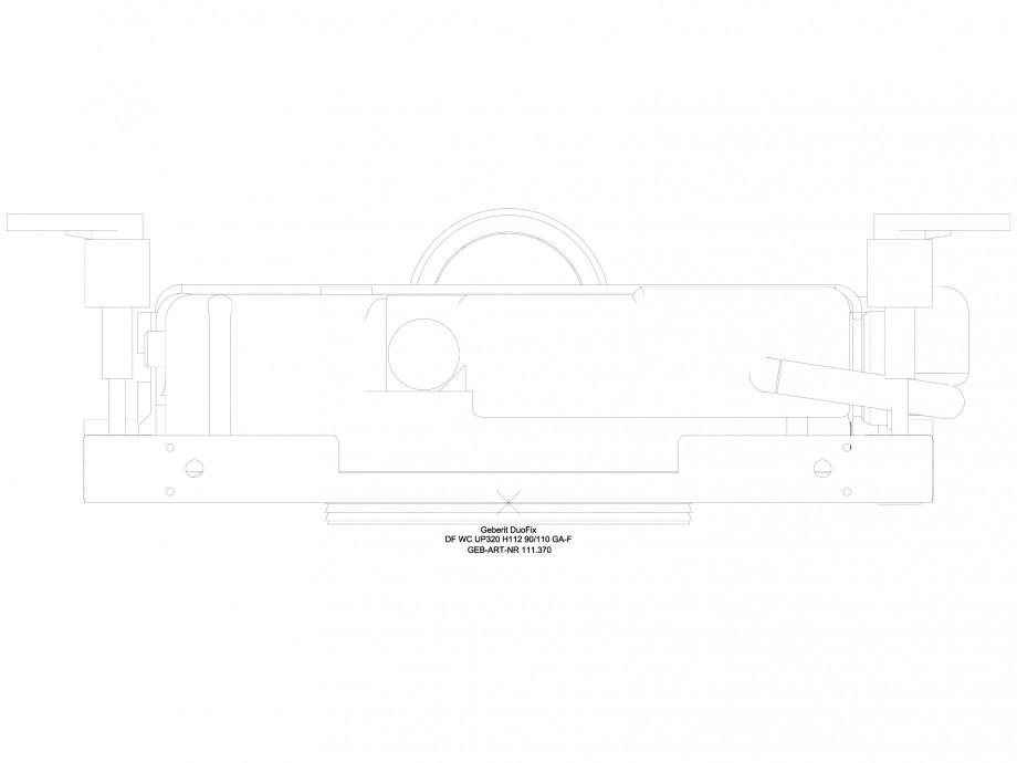Pagina 1 - CAD-DWG Sistem de instalare WC - vedere de sus GEBERIT Detaliu de produs DuoFresh