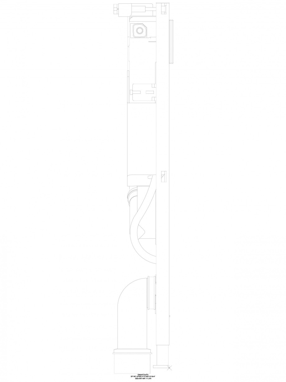 Pagina 1 - CAD-DWG Sistem de instalare WC - vedere din profil GEBERIT Detaliu de produs DuoFresh