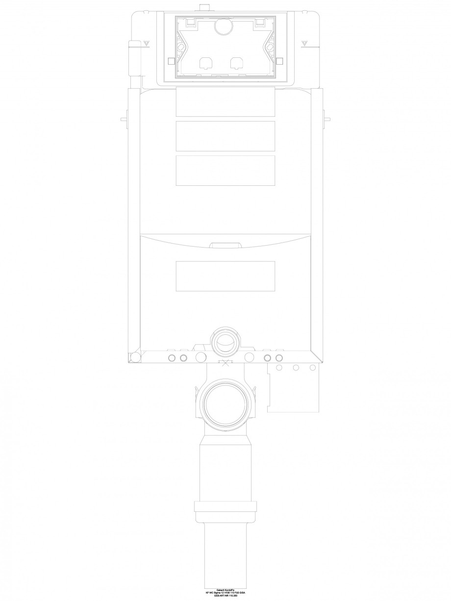 Pagina 1 - CAD-DWG Sistem de instalare WC Sigma - vedere din fata GEBERIT Detaliu de produs Kombifix...