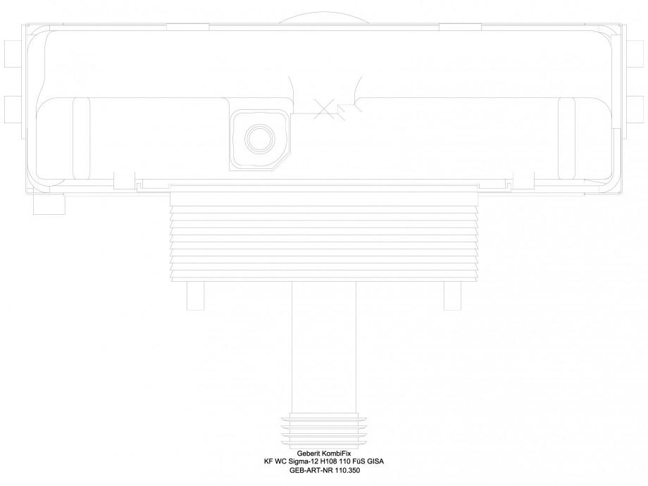 Pagina 1 - CAD-DWG Sistem de instalare WC Sigma - vedere de sus GEBERIT Detaliu de produs Kombifix
