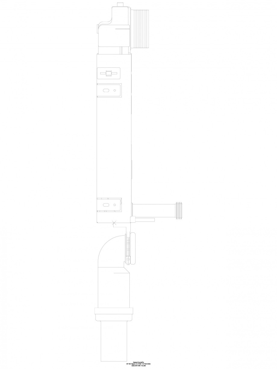 Pagina 1 - CAD-DWG Sistem de instalare WC Sigma - vedere din profil GEBERIT Detaliu de produs...