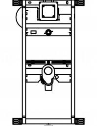 Sistem de instalare pisoar Universal - vedere din fata
