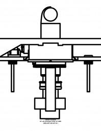 Sistem de instalare pisoar Universal - vedere de sus