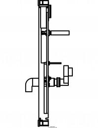 Sistem de instalare pisoar Universal - vedere din profil