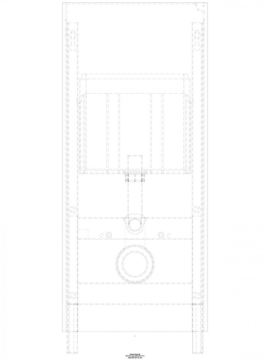 Pagina 1 - CAD-DWG Modul sanitar pentru WC - inaltime 114 cm GEBERIT Detaliu de produs Monolith